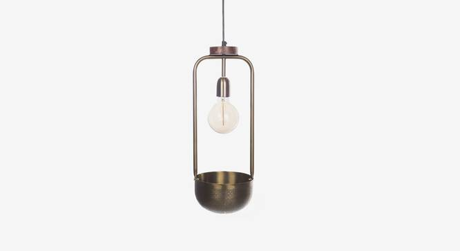 Esna Hanging Lamp With Bowl (Antique Brass Finish, Tall Size) by Urban Ladder - Front View Design 1 - 302416