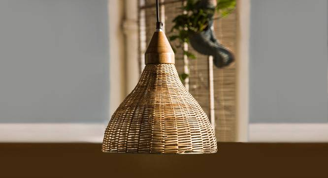 Callam  Hanging Lamp (Walnut Finish) by Urban Ladder - Design 1 Full View - 302450