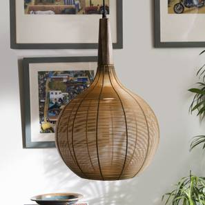 Tappa Hanging Lamp (Gold Finish, Drop Shape) by Urban Ladder - Design 1 Full View - 302454