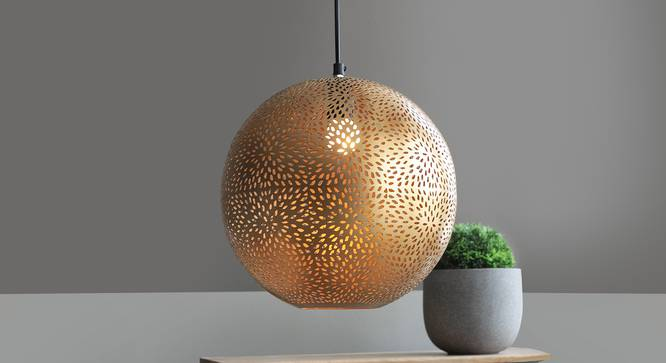 Cupula Hanging Lamp (Antique Brass Finish) by Urban Ladder - Design 1 Full View - 302465