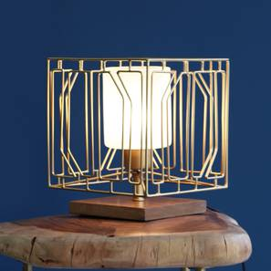 Choku Table Lamp (Gold Finish) by Urban Ladder - Design 1 Full View - 302494