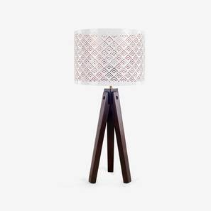 Pingle Table Lamp (Dark Walnut Finish) by Urban Ladder - Design 1 Full View - 302536