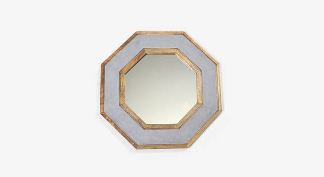 Hexago Wall Mirror (Grey Finish, Hexagon Shape) by Urban Ladder - Design 1 Top View - 302577