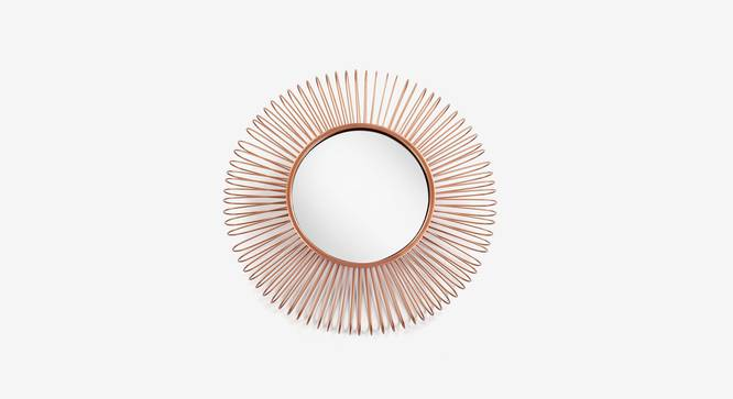 Pukim Wall Mirror (Copper Finish, Round Shape) by Urban Ladder - Design 1 Top View - 302622