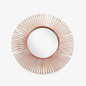 Pukim Wall Mirror - Set of 3 (Copper Finish, Round Shape) by Urban Ladder - Design 1 -