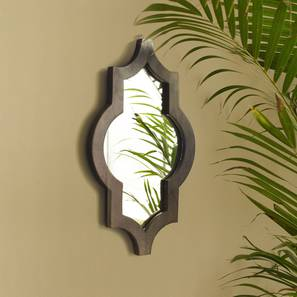 Ramon Wall Mirror (Dark Walnut Finish, Hexagon Shape) by Urban Ladder - Design 1 Half View - 302628