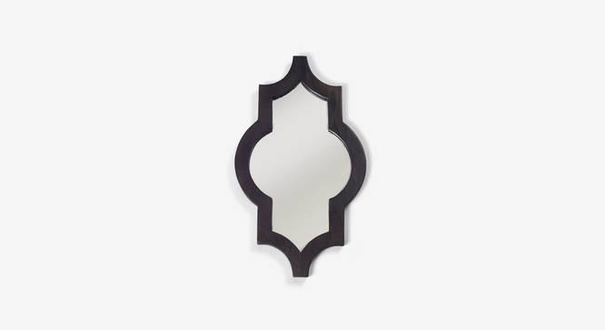 Ramon Wall Mirror (Dark Walnut Finish, Hexagon Shape) by Urban Ladder - Design 1 Top View - 302629