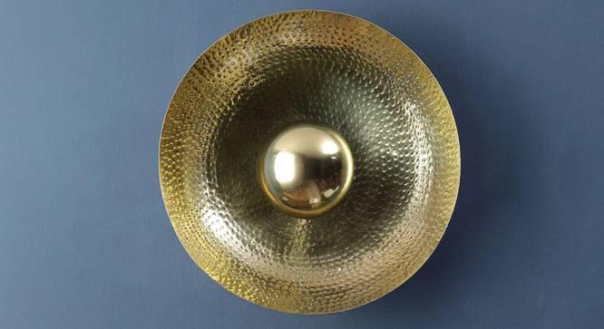 Berk Wall Light (Brass) by Urban Ladder - Design 1 Semi Side View - 302800