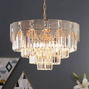 Cassiel Chandelier (Rose Gold) by Urban Ladder - Design 1 Half View - 302862