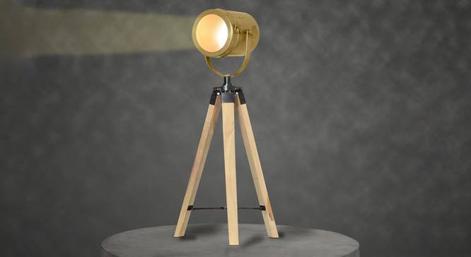 Crescent Table Tripod Lamp (Natural) by Urban Ladder - Design 1 Half View - 302879