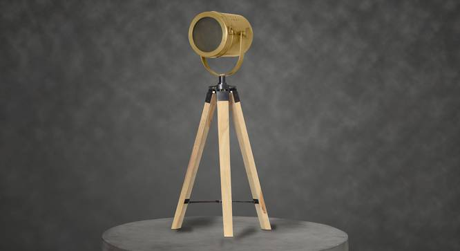 Crescent Table Tripod Lamp (Natural) by Urban Ladder - Design 1 Semi Side View - 302880