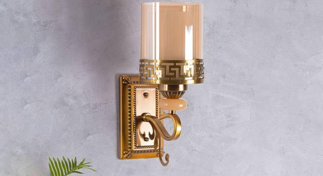 Yosmitte Wall Light (Brass) by Urban Ladder - Design 1 Semi Side View - 302943