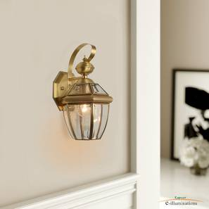 Xenia Wall Sconce (Brass) by Urban Ladder - Design 1 Half View - 302949