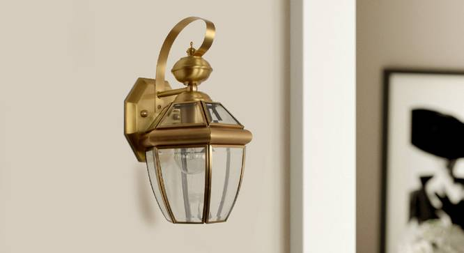 Xenia Wall Sconce (Brass) by Urban Ladder - Design 1 Semi Side View - 302950