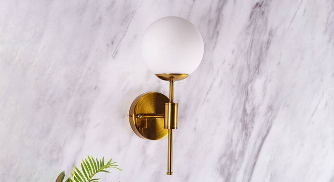 Strick Wall Sconce (Brass) by Urban Ladder - Design 1 Semi Side View - 303054