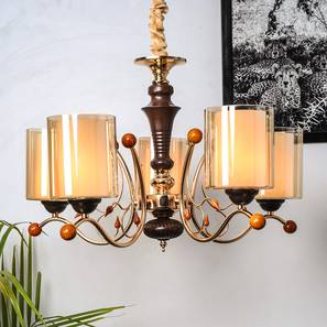 Leonis Chandelier (Copper) by Urban Ladder - Design 1 Half View - 303277