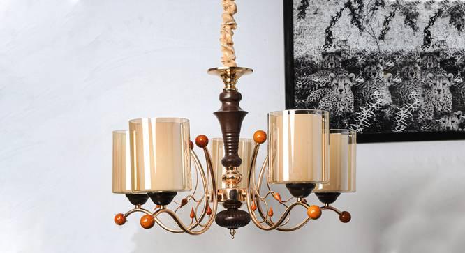Leonis Chandelier (Copper) by Urban Ladder - Design 1 Semi Side View - 303278