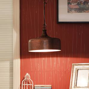 Hammered Pendant (Antique Copper) by Urban Ladder - Design 1 -