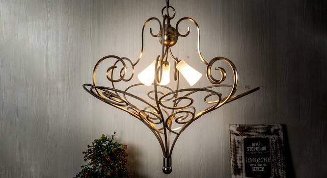 Maggimae Chandelier (Gold & Silver) by Urban Ladder - Design 1 Half View - 303432