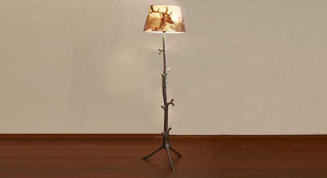 Petra Floor Lamp (White, Printed Shade Finish) by Urban Ladder - Design 1 Half View - 303567