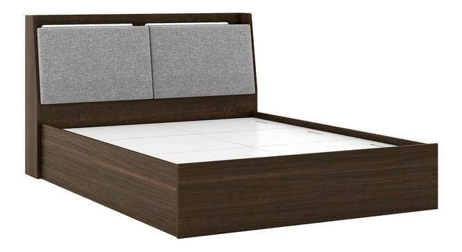 Tyra Storage Bed (Queen Bed Size, Box Storage Type, Californian Walnut Finish) by Urban Ladder - Front View Design 1 - 303623