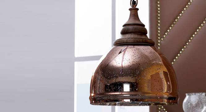 Duke Pendant (Copper) by Urban Ladder - Design 1 Semi Side View - 303689