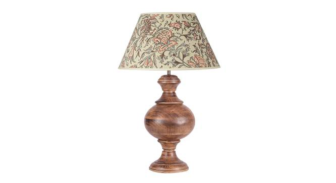 Elan Table Lamp (Brown, Cotton Shade Material, Canvas Print Shade Finish) by Urban Ladder - Design 1 Details - 303886