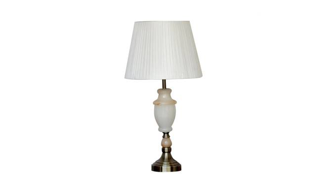 Foteini Table Lamp (White, White Shade Colour, Silk Shade Material) by Urban Ladder - Design 1 Details - 303908