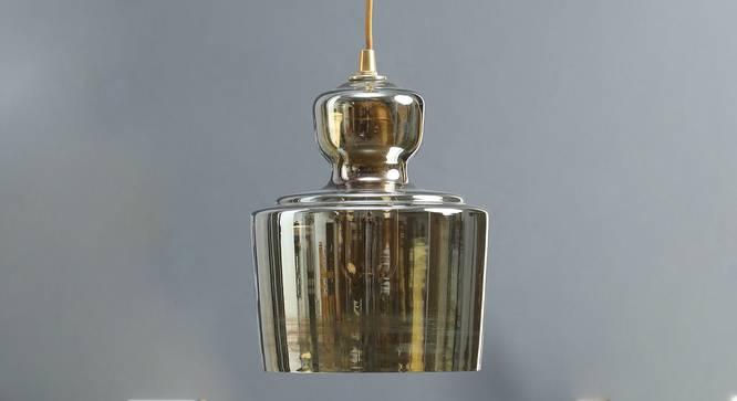 Harper Pendant Lamp (Amber) by Urban Ladder - Design 1 Semi Side View - 304031