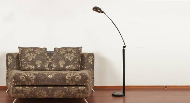 Ellipse Floor Lamp (Black) by Urban Ladder - Design 1 Semi Side View - 304051