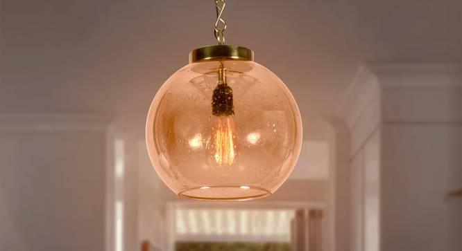 Alufoil Hanging Lamp (Amber) by Urban Ladder - Half View Design 1 -