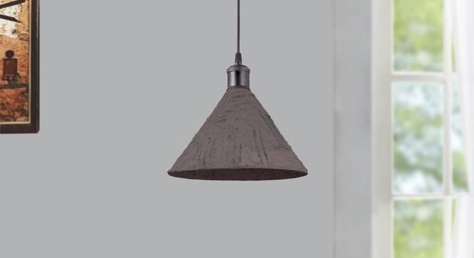 Aplomb Hanging Lamp (Mat Brown) by Urban Ladder - Design 1 Semi Side View - 304092