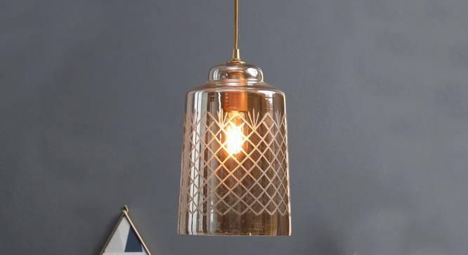 Bosnia Hanging Lamp (Amber) by Urban Ladder - Half View Design 1 -
