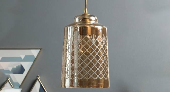 Bosnia Hanging Lamp (Amber) by Urban Ladder - Design 1 Semi Side View -