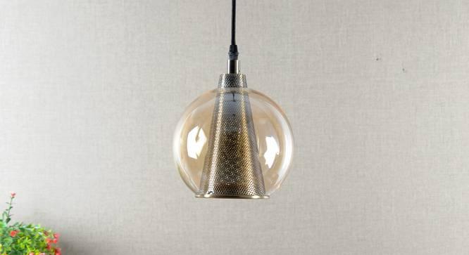 Wysocki Hanging Light (Brass) by Urban Ladder - Design 1 Semi Side View -