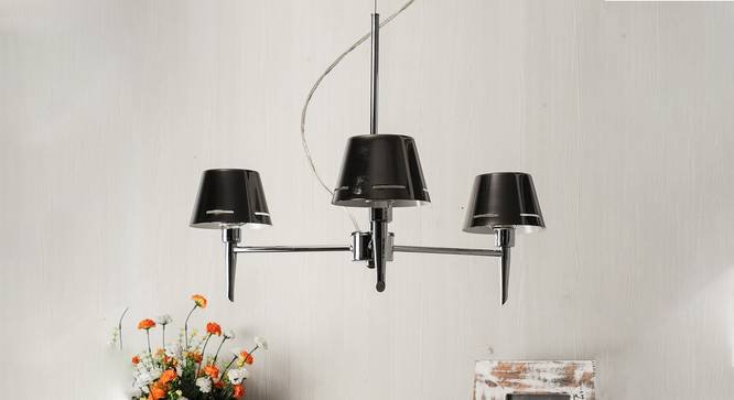 Conley Chandelier (Chrome, Metal Shade Material) by Urban Ladder - Design 1 Semi Side View -