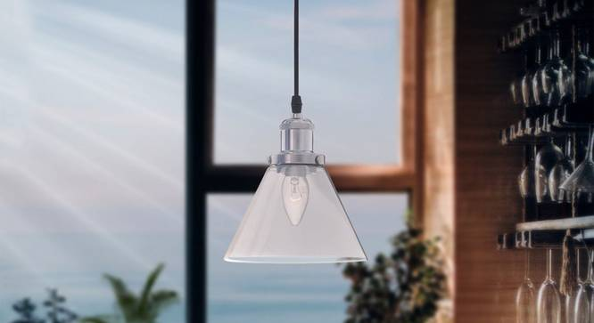 Dawnelle Pendant (Chrome) by Urban Ladder - Design 1 Semi Side View -