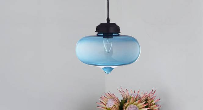 Dayton Pendant (Sea Blue) by Urban Ladder - Design 1 Semi Side View -