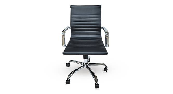Charles Study Chair - 2 Axis Adjustable (Black) by Urban Ladder - Front View Design 1 - 304243