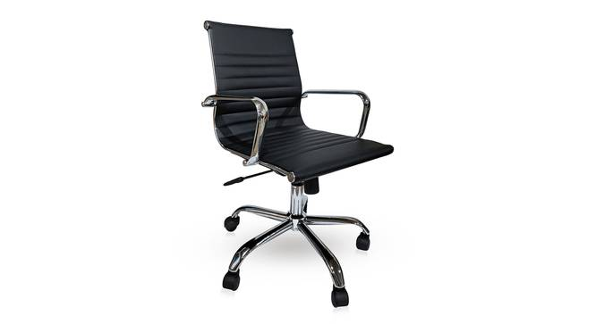 Charles Study Chair - 2 Axis Adjustable (Black) by Urban Ladder - Cross View Design 1 - 304244