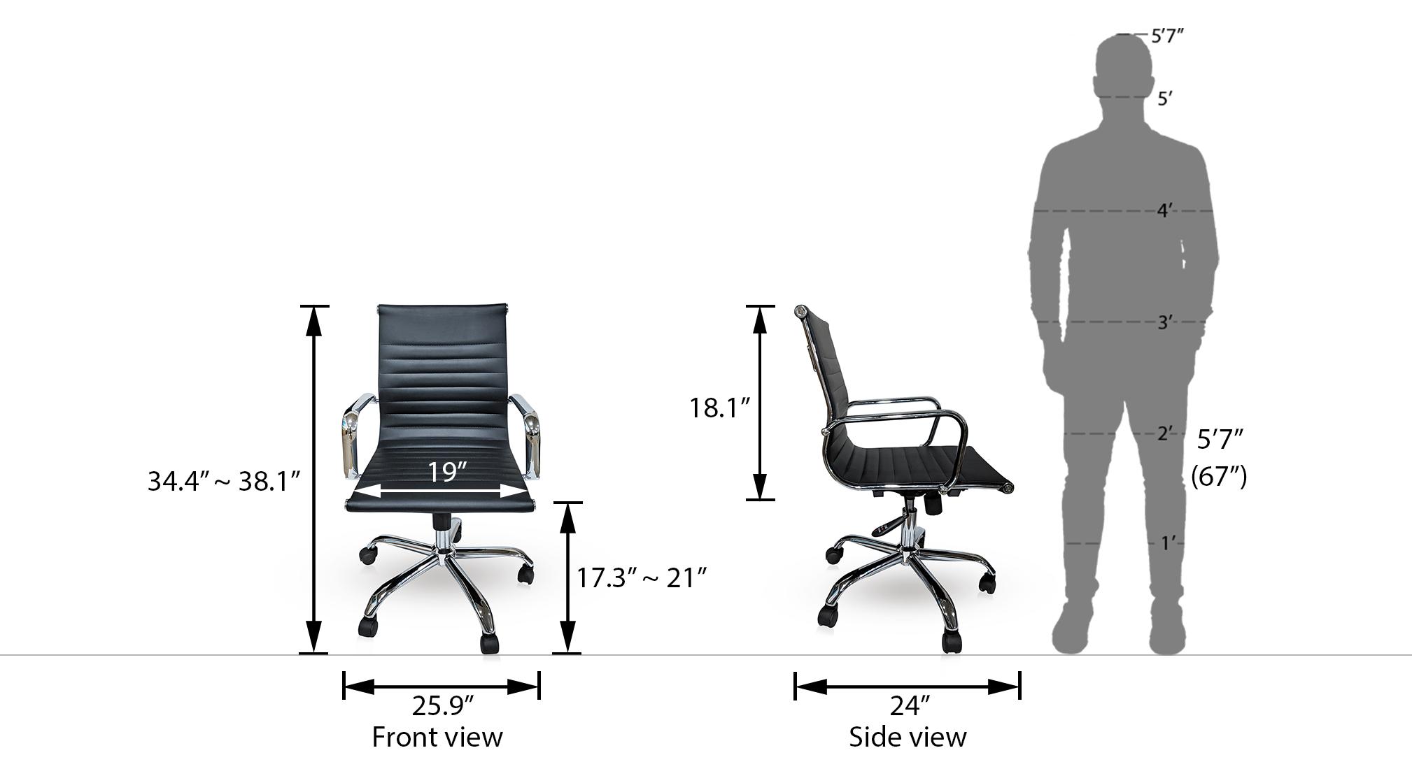 Charles study chair new black 21