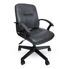 Barry Study Chair (Black Leatherette) by Urban Ladder - Design 1 - 304248