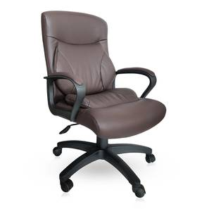 Jean Study Chair (Brown Leatherette) by Urban Ladder - Design 1 - 304254