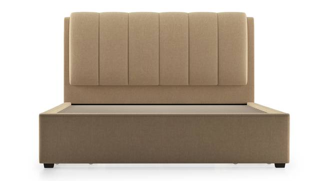 Faroe Upholstered Storage Bed (Queen Bed Size, Beige) by Urban Ladder - Front View Design 1 - 304620