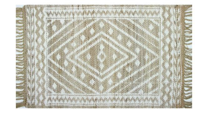 "Maya Natural Carpet (61 x 122 cm (24"" x 48"") Carpet Size, Natural Ivory) by Urban Ladder - Front View Design 1 - 304660"