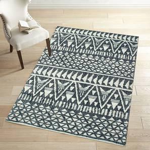 "Arrow Dhurrie (Black, 152 x 244 cm  (60"" x 96"") Carpet Size) by Urban Ladder - Front View Design 1 - 304696"