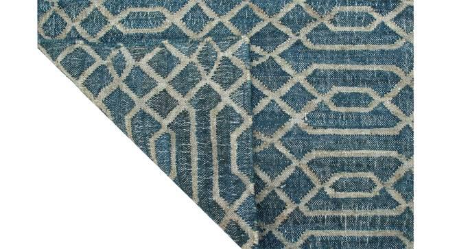 "Jaali Dhurrie (152 x 244 cm  (60"" x 96"") Carpet Size, Indigo Blue) by Urban Ladder - Rear View Design 1 - 304704"