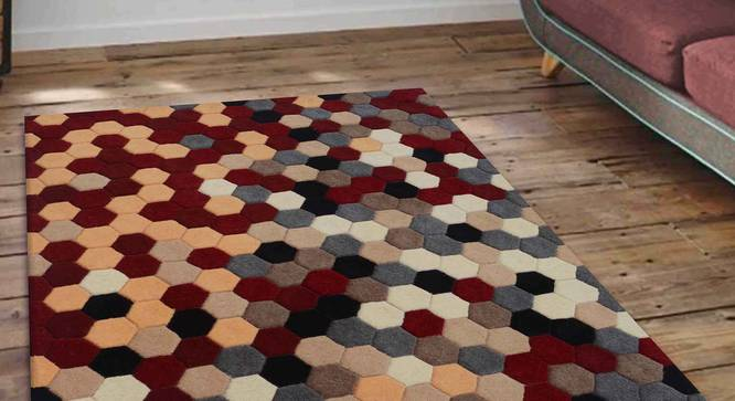 """Carina Carpet (Red, 152 x 244 cm  (60"""" x 96"""") Carpet Size) by Urban Ladder - Front View Design 1 - 304767"""