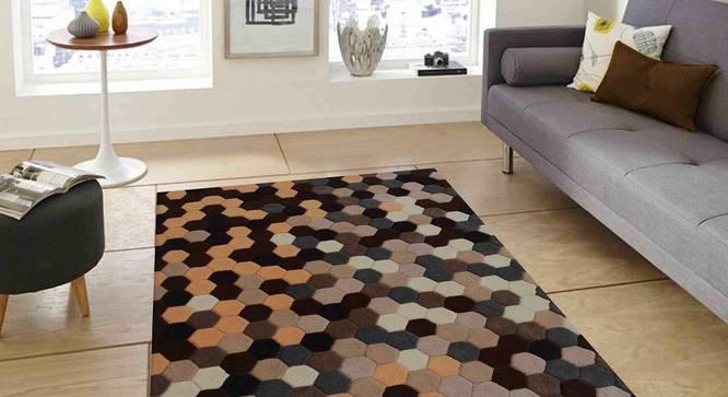"Carina Carpet (Brown, 122 x 183 cm  (48"" x 72"") Carpet Size) by Urban Ladder - Front View Design 1 - 304791"
