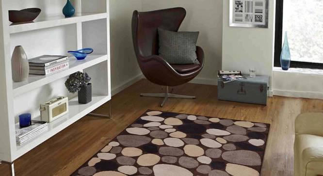 "Stefano Carpet (Brown, 152 x 244 cm  (60"" x 96"") Carpet Size) by Urban Ladder - Front View Design 1 - 304857"